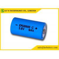 Primary ER26500 Lithium Battery , C Size 3.6 V Lithium Battery 9000mAh