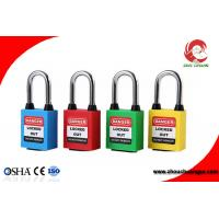 Buy cheap Universal 38mm steel shackle nylon body  safety padlock lockout from wholesalers