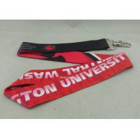 Buy cheap Celebration Promotional Lanyards Printing Stain Material Neck Ribbon With Twist Hook from wholesalers
