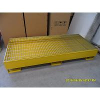 Buy cheap Four Drum Steel Spill Containment Pallets , Standard Size Steel Spill Sumps product