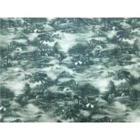Buy cheap Men'S Coat / Bags Modern Leather , Windbreaker Custom Printed Leather Fabric Chinese Painting Style from wholesalers