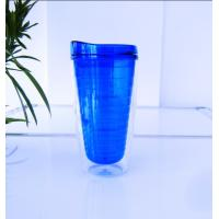 Buy cheap 450ml double wall tumbler with straw from wholesalers