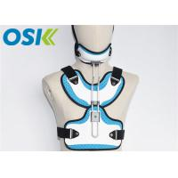 China Adjustable Medical Orthosis Orthopedic Neck Brace White / Blue CE Certification on sale