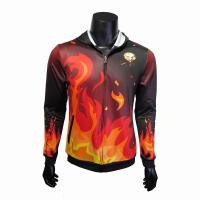 Buy cheap Red / Black Hooded Sports Jacket / Thermal Hoodie Jacket For Spring Autumn from wholesalers