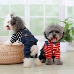 Buy cheap Breathable Strap Jeans Stripe Dog Clothes from wholesalers