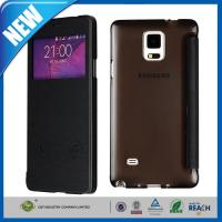 Buy cheap PU Samsung Cell Phone Cases , Galaxy Note 4 S-View Flip Smart Leather Cover from wholesalers