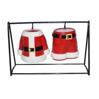 Buy cheap Hand Painted Ceramic Salt And Pepper Shakers Pots Christmas Santa Coat and Pant Dolomite from wholesalers