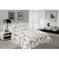 Buy cheap Big Cockscomb Flower Quilted Bed Covers , Full Size Bed Quilt Sets With ISO9001 Certification from wholesalers