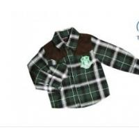 Buy cheap OEM Green Boy Kids Plaid Long Sleeve  cheap printed t Shirts with 4-hole buttons from wholesalers