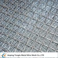 Buy cheap Flat Top Crimped Wire Mesh |50X50mm Mesh Aperture Smooth Top Crim Wire Screen by Stainless Steel from wholesalers