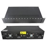 14 Slot Rackmount Chassis Fiber Optic Converter With 4 Fans 2 Power Supply