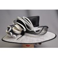 Buy cheap Contrast Big Brim Sinamay Ladies Hats , ladies occasion hats from wholesalers