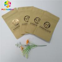 Buy cheap Three Side Sealed Kraft Customized Paper Bags Foil Lined Organic Roasted Coffee Packing from wholesalers