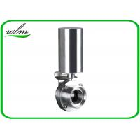 Buy cheap Pneumatic Male Threaded Sanitary Butterfly Valve With Stainless Steel Actuator from wholesalers