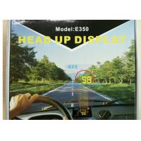 Buy cheap 9V ~ 16Vdc Windscreen Speed Display Without Glare , E350 HUD Car Windshield Projector from wholesalers