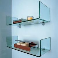 Buy cheap Clear One Piece Tempered Glass Shelve 8MM Glass Bathroom Shelves from wholesalers