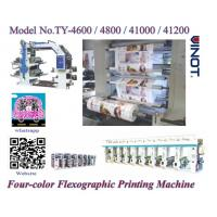 Buy cheap Auto Fully Four Color Flexographic Printing Machine for Paper / Plastic Shop Bag from wholesalers