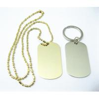 Buy cheap Zinc Alloy Stainless Steel Dog Tags , Aluminum Material Custom Engraved Dog Tags from wholesalers