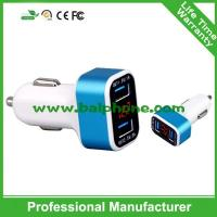 Buy cheap Newest 2 ports best in car usb charger with LED screen display from wholesalers