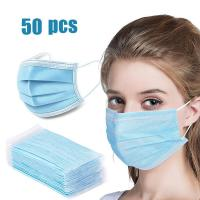 Buy cheap 3 Ply Antibacterial Face Mask Non Woven Disposable Gas Mask For Health from wholesalers