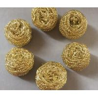 Buy cheap Strong Decontamination Copper Scrub Pad , Antibacterial Brass Copper Wool Pad from wholesalers