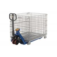 China Eco Friendly Large Steel Mesh Storage Cage Containers Baskets OEM / ODM Available on sale
