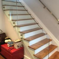 Buy cheap Frameless standoff glass balustrade balcony glass railings design from wholesalers