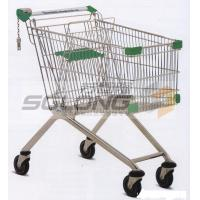 Buy cheap Unfolding Colored Supermarket Shopping Trolley Baskets Steel Material from wholesalers