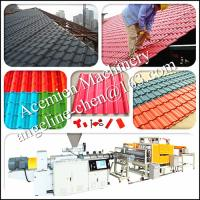 Buy cheap Anti-ultraviolet,hot and cold weather resistant,cheap cost pvc glazed tile making machine product