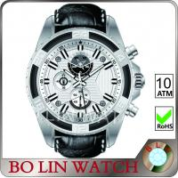 Buy cheap Customized Dial Mens Active Watches , Diamond - Cut Hands Sport Chronograph Watches from wholesalers