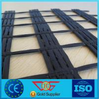China 800/100 High Tenacity Polyester Geogrid for Road and Retaining Wall Construction on sale