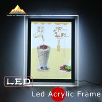 Buy cheap Led Acrylic Frame Led Menu Sign Lightbox Menu Board Slim Lightbox Holds from wholesalers