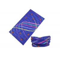 Colorful Lines UV Buff Headwear 25 * 50 CM For Running / Climbing / Fishing