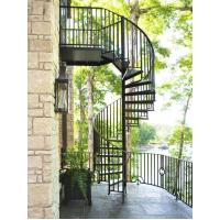 Buy cheap outdoor garden balcony american style modern design metal cast iron spiral stairs staircase from wholesalers