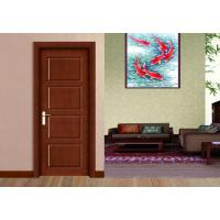 Buy cheap Four Fake Panel Wooden Flush Door Maximum Size 2800*1150mm Peephole Lock product