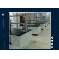 Buy cheap Stainless Steel Laboratory Island Bench ,  Customized Two Layers Science Lab Countertops from wholesalers