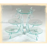 Buy cheap Square and clear acrylic cake stand,acrylic cake display from wholesalers