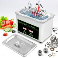 Buy cheap 0.8L 35W Gold Glasses Ultrasonic Cleaning Bath CE Tool Ultrasonic Cleaning from wholesalers