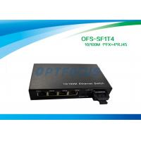 Optical 4 Port Ethernet Switch 10 / 100BASE - Tx 100BASE - Fx 125×27×85 mm