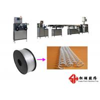 Buy cheap Spiral Wire PET PVC Binding Ring Strip Bending Machine With Single Screw Design from wholesalers