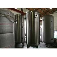 Buy cheap ASME Certified Stainless Steel Air Receiver Tank Frosting Surface Treatment from wholesalers