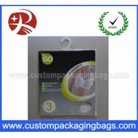 Buy cheap OEM Resealable Plastic Hanger Bags With Ziplock For Llingerie from wholesalers