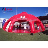 Buy cheap Red Giant Inflatable Spider Tent With 8 Legs PVC Party Tents For Rent from wholesalers