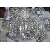 Buy cheap Custom Pan Stainless Steel Chainmail Scrubber 10mm Outside Diameter , Eco Friendly from wholesalers