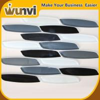 Buy cheap 8mm Strip Mosaic Tiles Glass Black and Gray Blend SGS / TUV from wholesalers