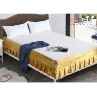 Buy cheap Various Color Decorative Hotel Bed Skirts Washable With Rest Report from wholesalers