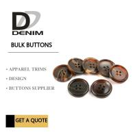 Buy cheap Shiny Matt Black Brown Bulk ing Buttons Sourcing 4 Holes With Pattern Design from wholesalers