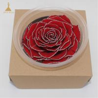 Buy cheap Grade A Real Touch Wedding Flowers with Glitter Colors  Big Size Preserved Flower Rose for Decor Supplies from wholesalers