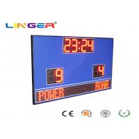 Buy cheap Wireless Control Electronic Football Scoreboard / Soccer Score Board With Led Team Name from wholesalers