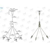 Buy cheap Billboard Wire Suspension Kit , Wire Rope Hanging System 30 KG Safe Working Load from wholesalers